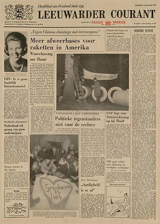 jimi hendrix newspaper 1970 / leeuwarder courant/ jan. 31 1970