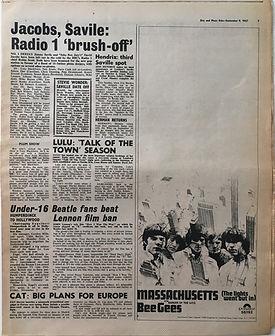 jimi hendrix collector newspapers/disc music echo/hendrix third saville spot