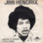 jimi hendrix single vinyl/johnny b.goode/little wing norway 1972