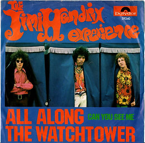 jimi hendrix collector singles 45t vinyls/all along the watchtower/can you see me singapore 1969