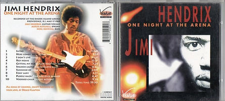 jimi hendrix bootlegs cd 1969/one night at the arena may 17 1969 providence R.I