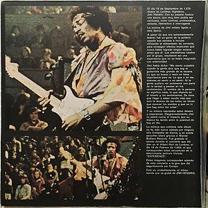 jimi hendrix vinyls album/experience  spanish 1971 cover gatefold