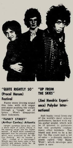 jimi hendrix newspper 1968/go set  april 24, 1968 australia