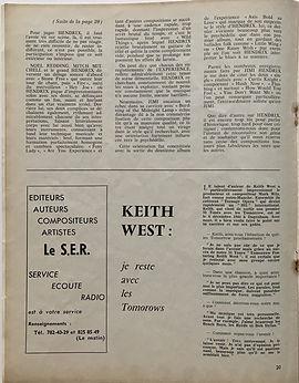 jimi hendrix magazine/hit parade magazine april 1968