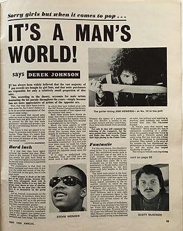 jim hendrix magazine/it's a man's world!