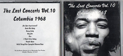 jimi hendrix bootleg cd/the lost concerts vol 10/columbia 1968 august 16