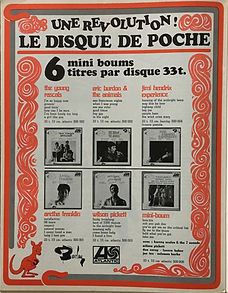 jim hendrix collector magazine/rock & flock 11/1967 AD mini boum jimi hendrix barclay