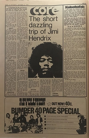 jimi hendrix newspapers: go set October 3, 1970