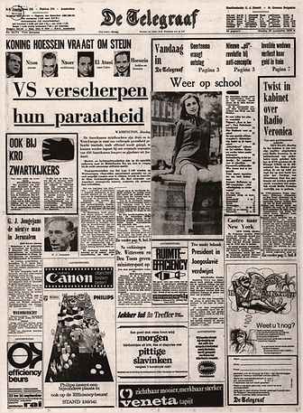 jimi hendrix newspapers 1970 / de telegraaf  September 22, 1970