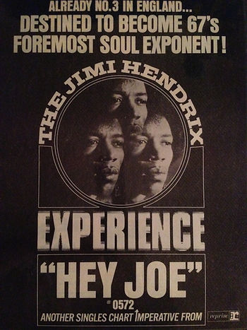 jimi hendrix rotily memorabilia collector/ hey joe
