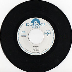 jimi hendrix vinyls singles/freedom