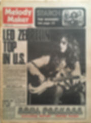 jimi hendrix newspaper 1970 / melody maker jan. 31 1970
