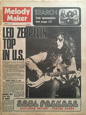 jimi hendrix newspaper 1970 / melody maker jan. 31 1970
