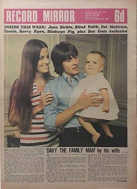 jimi hendrix newspaper 1969/record mirror august 23 1969