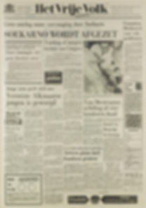 jimi hendrix newspaper 1967/het vrije volk march 11 1967