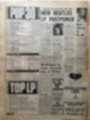 jimi hendrix newspaper 1968/ melody maker november 9 1968 top 30