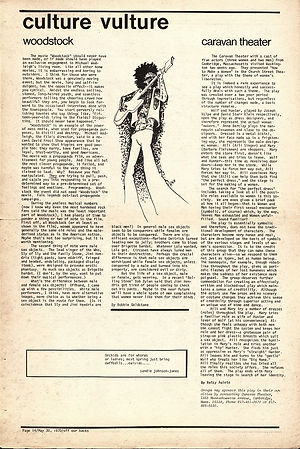 jimi hendrix newspapers 1970 / off our backs : may 30,1970