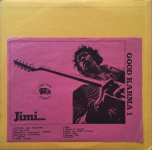jimi hendrix vinyls bootlegs lp / good karma 1 tmoq  / 1973