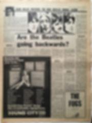 jimi hendrix newspaper 1968/ sound city