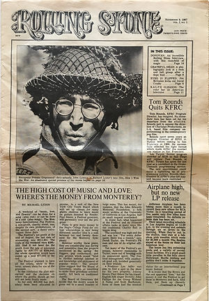 jimi hendrix collector newspaper/rolling stone newspaper/N°1 november 9/1967 hendrix and clapton