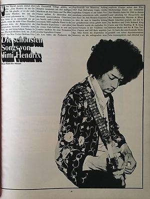 jimi hendrix magazines 1970 / twen december 1970 : article