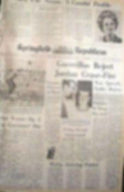 jimi hendrix newspapers 1970/springfield republican sept 20, 1970