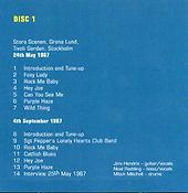 jimi hendrix box cd/disc 1/ stockholm 24/5/67 and 4/9/67