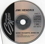 jimi hendrix bootlegs cd/disc 1 shine on earth shine on   1989