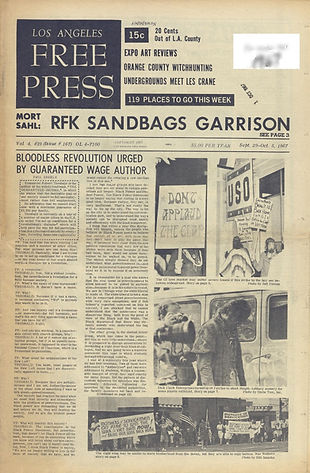 jimi hendrix newspaper/los angeles free press 29/9/67