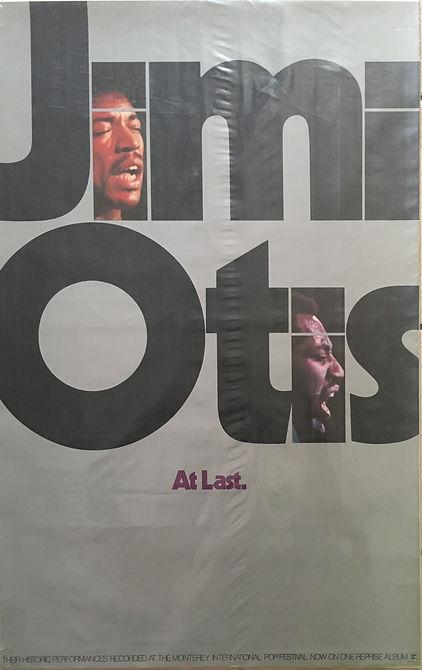 jimi hendrix collector poster memorabilia/jimi otis at last/reprise records 1970