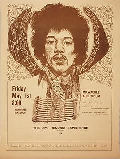 jimi hendrix memorabilia 1970 / handbill 1970