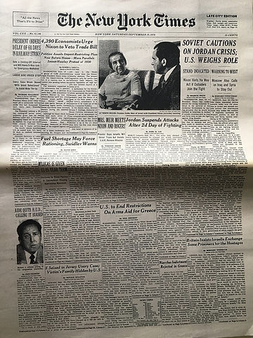 jimi hendrix newspaper 1970 / the new york times : september 19,1970 / jimi hendrix dies .....