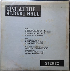 jimi hendrix vinyls bootlegs/live at the albert hall/stereo