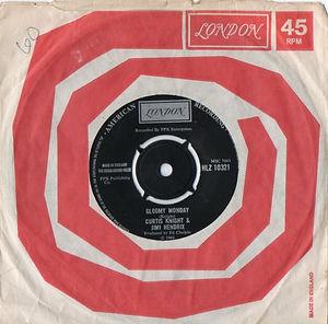 jimi hendrix vinyls singles collector/gloomy monday london 1970