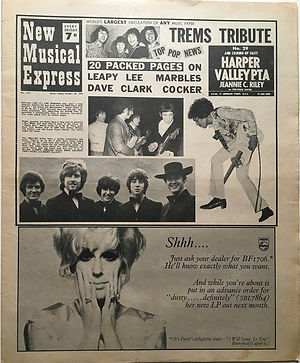 jimi hendrix newspaper 1968/new musical express 26/10/68