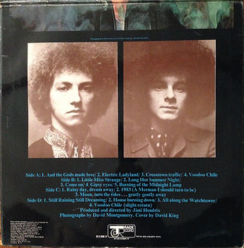 jimi hendrix vinyl album/ electric ladyland 1968 track record 2nd edition
