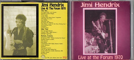 jimi hendrix bootlegs cds 1970 / jimi hendrix live at the forum whoopy kat 2cd