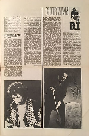 jimi hendrix newspaper 1970 / idiot international   august 1970