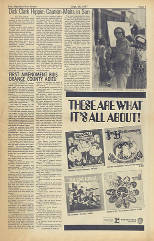 jimi hendrix newspaper/los angeless free press  29/9/67