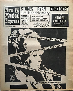 jimi hendrix newspaper 1968 /new musical express november 23 1968