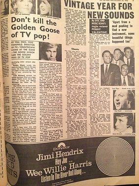 jimi hendrix newspaper/disc music echo 22/12/66