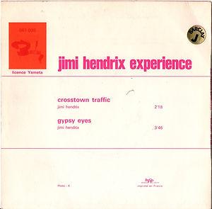 jimi hendrix collector singles vinyls 45t/ 2nd edition 1970 crosstown traffic gypsy eyes barclay