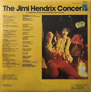 jimi hendrix vinyls album / the jimi hendrix concerts / media 3 : 1989 england
