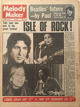 jimi hendrix newspaper 1970 / melody maker : august 29, 1970 / article : isle of rock