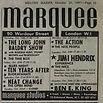 jim hendrix collector newspaper/ad concert marquee club 24/10/67