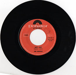 jimi hendrix singles reissue/ italy 1975  hey joe