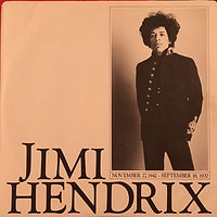 jimi hendrix vinyls collector /inside cover electric ladyland  1981