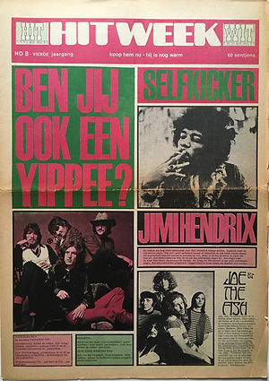 jimi hendrix newspaper/hitweek 1968
