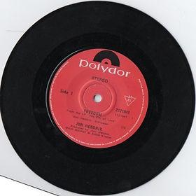 jimi hendrix vinyls singles/freedom new zealand  1971