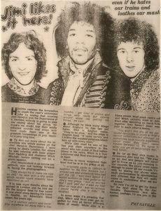 jimi endrix magazine /mirabelle august 1967